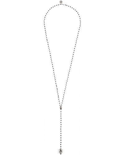 Ожерелье черный серебряный Alexander Mcqueen