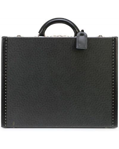 Teczka skórzana - czarna Louis Vuitton