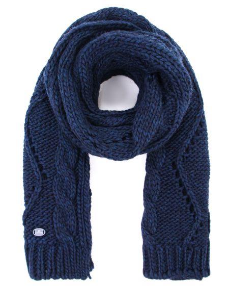 Синий классический шарф из альпаки прямоугольный Canadiens