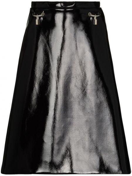 Черная юбка на молнии металлическая Christopher Kane