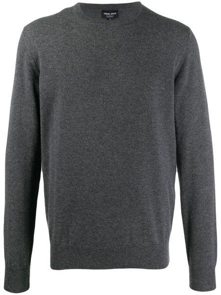 Z kaszmiru klasyczna bluza z długimi rękawami Giorgio Armani