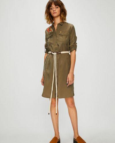Платье мини с вышивкой с карманами U.s. Polo