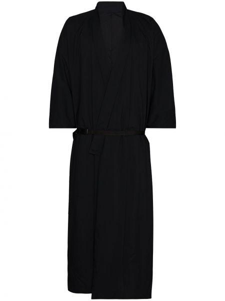 Нейлоновое черное с рукавами кимоно с поясом Snow Peak