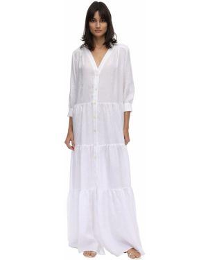 Летнее платье платье-рубашка льняное Caftanii