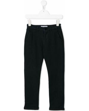 Прямые синие брюки с поясом на молнии Manuel Ritz Kids