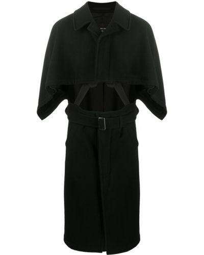 Z rękawami czarny klasyczny wełniany peleryna Comme Des Garcons Homme Plus