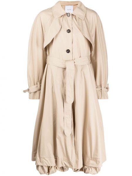 С рукавами пальто классическое с воротником с поясом Patou