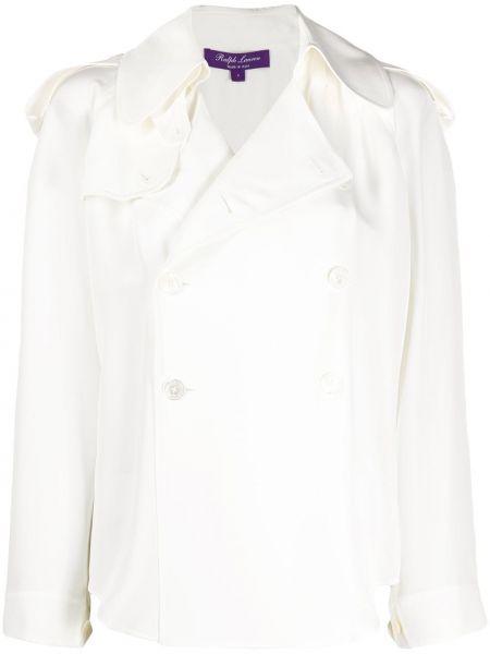 Шелковая классическая рубашка с воротником на пуговицах двубортная Ralph Lauren