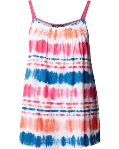 Piżama bawełniana - pomarańczowa Lauren Ralph Lauren
