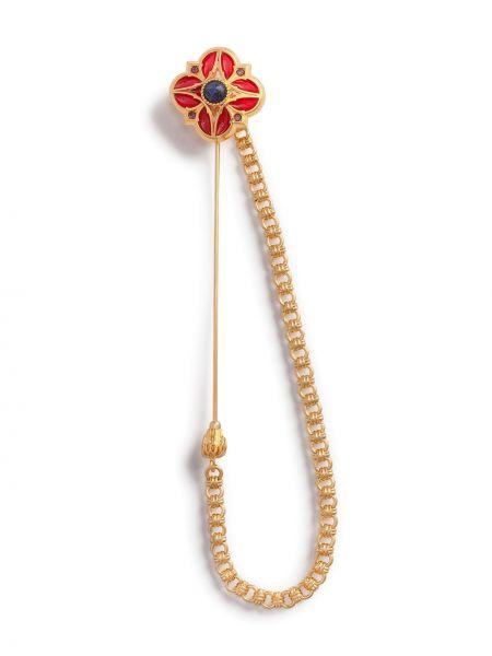Złota broszka - szara Dolce And Gabbana