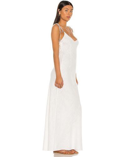 Biała sukienka z wiskozy perły Dannijo