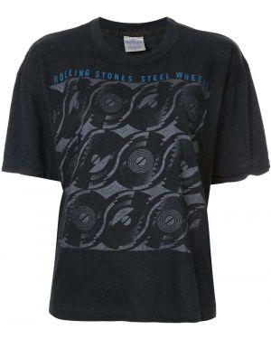 Черный футбольный топ винтажный Fake Alpha Vintage