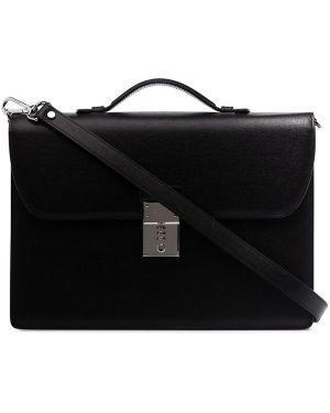 Черный портфель металлический Canali
