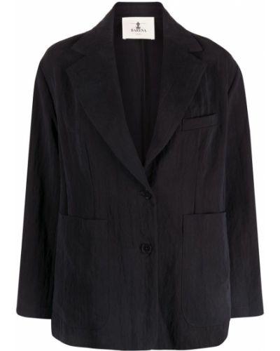 Однобортный черный удлиненный пиджак на пуговицах Barena