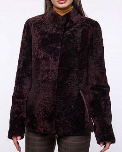 Кожаная куртка с мехом - красная Dzhanbekoff