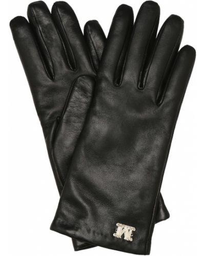 Czarne rękawiczki skorzane Max Mara
