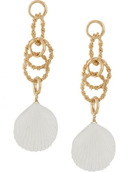 Białe złote kolczyki sztyfty Joanna Laura Constantine