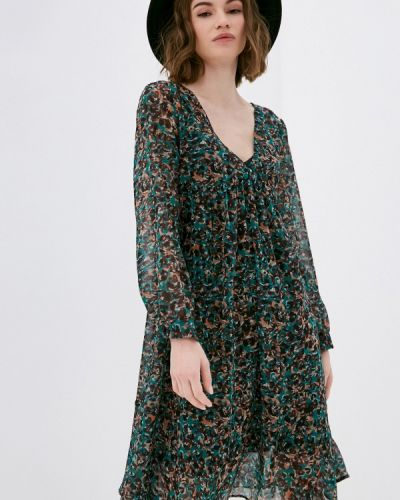 Прямое зеленое платье Please