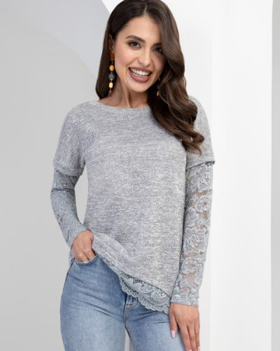 Асимметричная кружевная блузка Charutti