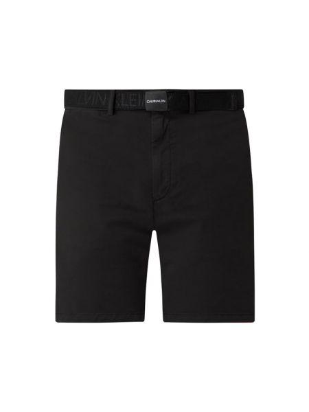 Czarne szorty chinosy bawełniane Ck Calvin Klein