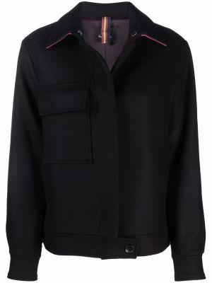Черная куртка с накладными карманами Ps Paul Smith