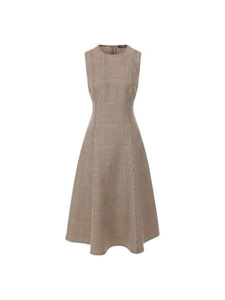 Платье миди с декольте винтажная Polo Ralph Lauren