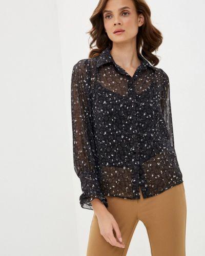 Черная блузка с длинным рукавом с длинными рукавами Imperial