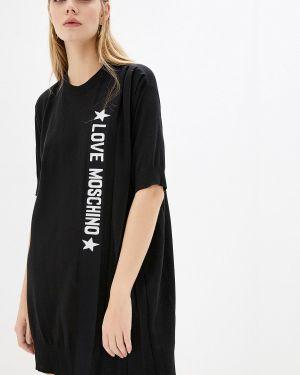 Платье футболка осеннее Love Moschino