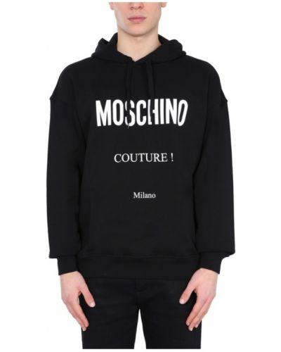 Bluza z kapturem bawełniana oversize Moschino
