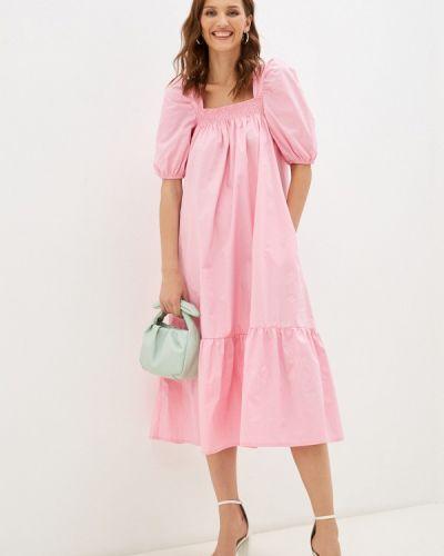 Розовое платье осеннее Imocean