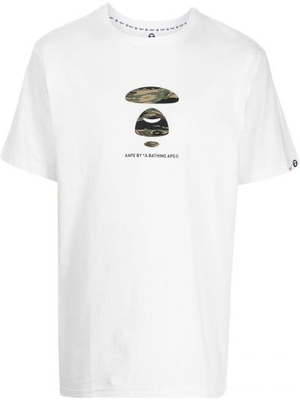 Biała t-shirt krótki rękaw Aape By A Bathing Ape