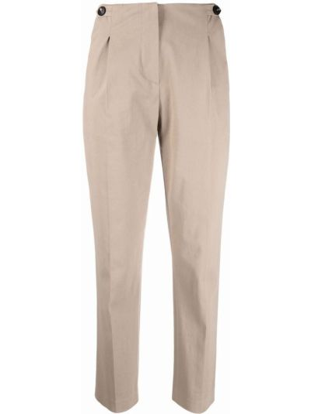 Бежевые хлопковые брюки Tela