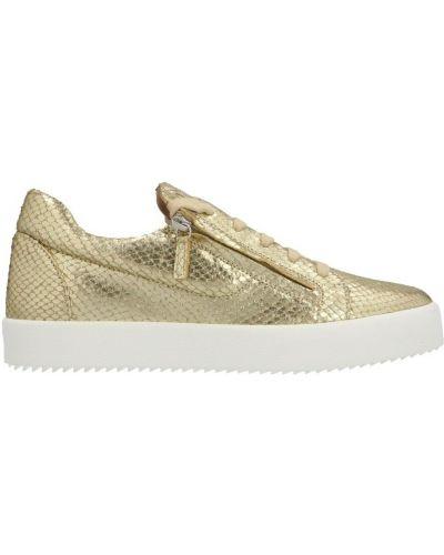 Sneakersy - żółte Giuseppe Zanotti