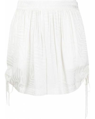 С кулиской белые шорты из вискозы Federica Tosi