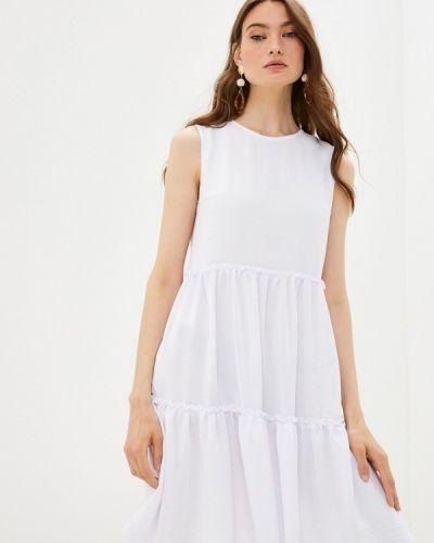 Белое прямое платье Shovsvaro