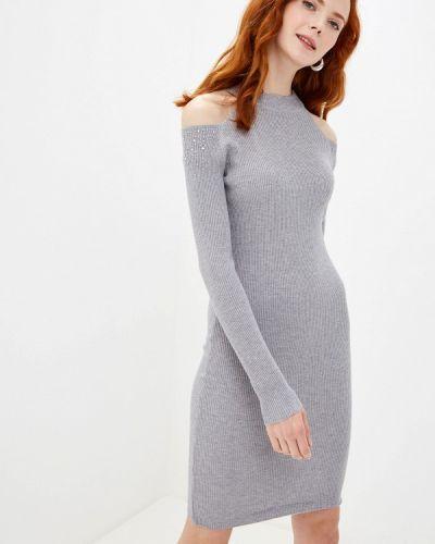 Платье серое вязаное Liana