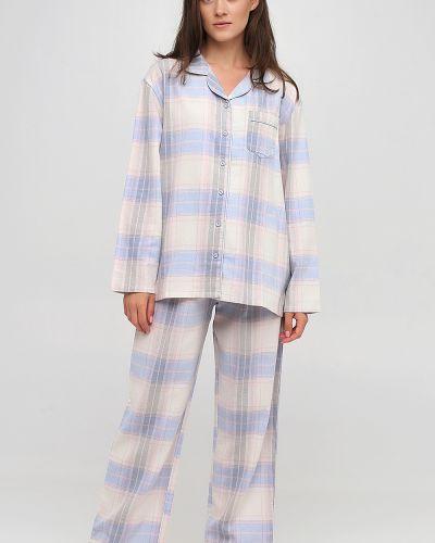 Фланелевая пижама - синяя Naviale