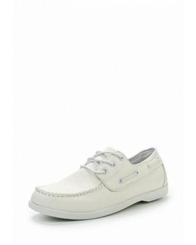 Белые кожаные топсайдеры Ws Shoes