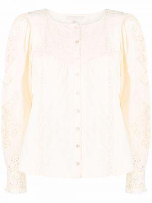 Кружевная блузка - белая Loveshackfancy
