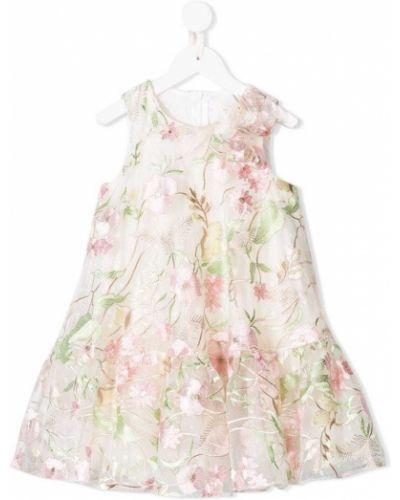 Бежевое платье с рукавами David Charles Kids