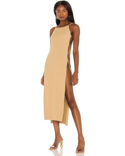 Хлопковое платье - золотое Cult Gaia