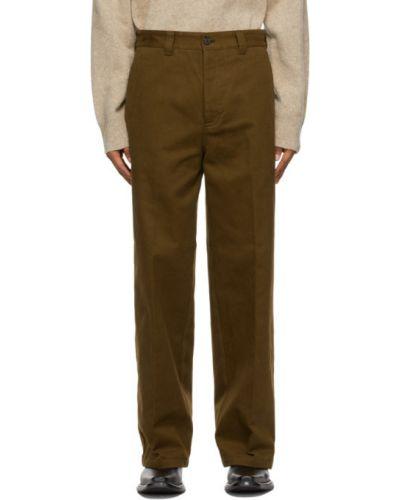Spodnie khaki bawełniane z paskiem Acne Studios