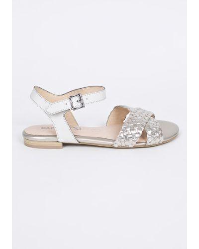 Белые сандалии кожаный Caprice