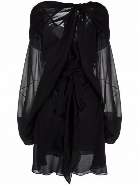 Платье макси длинное - черное Maison Margiela