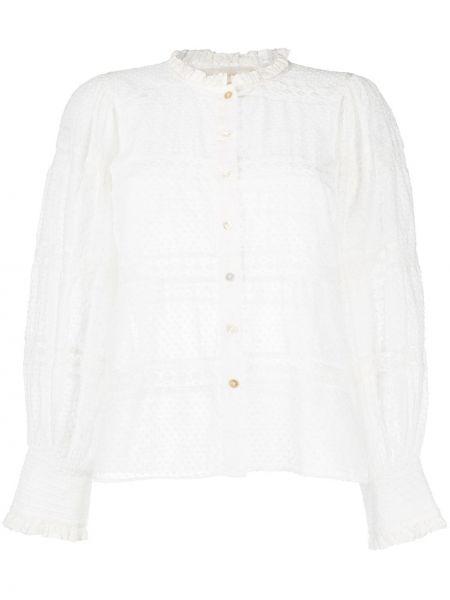 Bluzka koronkowa z długimi rękawami z haftem Loveshackfancy