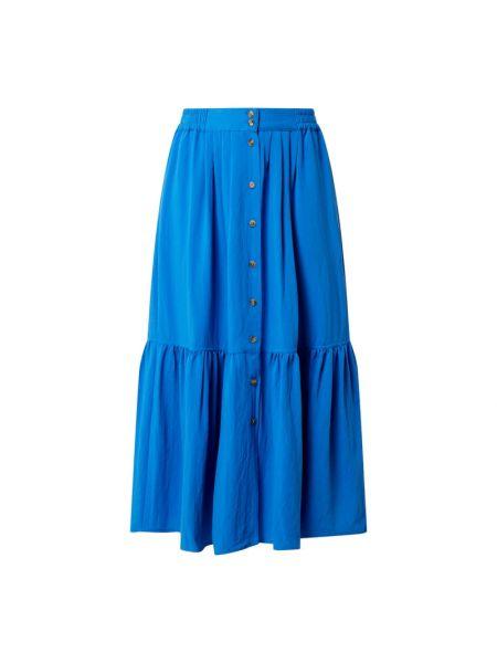 Niebieska spódnica maxi rozkloszowana z wiskozy Closed