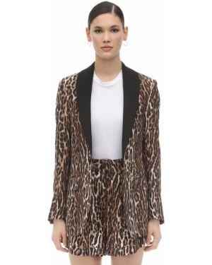 Шелковый пиджак с карманами с лацканами R13