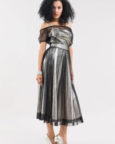 Вечернее платье весеннее серебряный Maxa