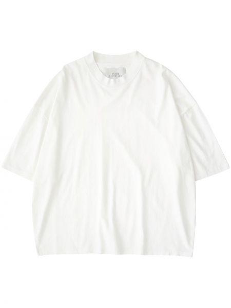 Biały t-shirt bawełniany krótki rękaw Studio Nicholson