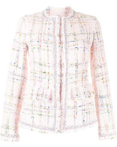 Розовый пиджак твидовый с потайной застежкой Giambattista Valli